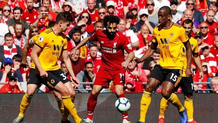 Mohamed Salah saat bertanding bersama Liverpool (Foto: Phil Noble/Reuters)