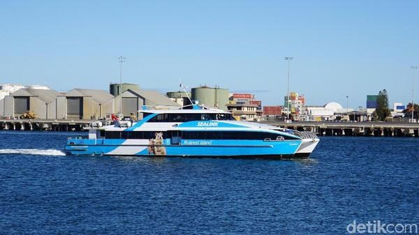 Kapal feri tujuan Rottnest Island. Pulau ini jadi tujuan wisata favorit di Australia Barat (Masaul/detikcom)