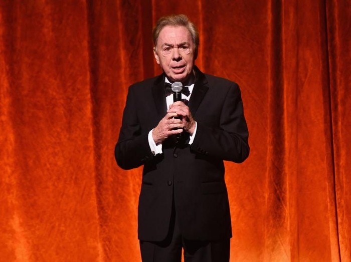 NEW YORK, NY - SEPTEMBER 24:  Andrew Lloyd Webber speaks onstage during the American Theatre Wing Centennial Gala at Cipriani 42nd Street on September 24, 2018 in New York City.  (Photo by Noam Galai/Getty Images for American Theatre Wing)