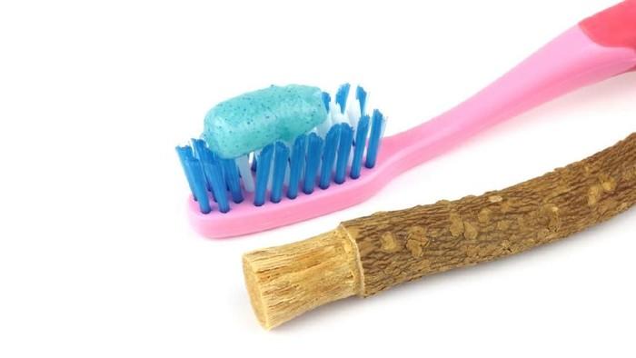 Kandungan siwak melebihi kandungan pasta gigi. Foto: iStock
