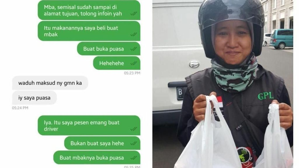 Keren Banget Aksi Netizen yang Kompak Belikan Makanan Untuk Driver Ojol