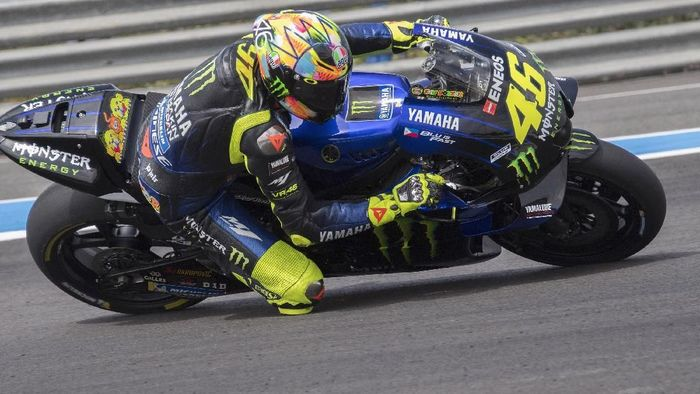 Valentino Rossi kala membalap bersama tim Yamaha (Mirco Lazzari gp/Getty Images)