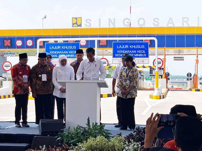 Presiden Joko Widodo meresmikan tiga seksi Jalan Tol Pandaan-Malang sepanjang 30,625 km hari ini, Senin (13/5/2019). Istimewa/Dok. PT Jasa Marga (Persero) Tbk.