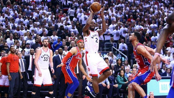 Toronto Raptors ke final Wilayah Timur usai mengalahkan Philadelphia 76ers di game 7 (Foto: Vaughn Ridley/Getty Images)