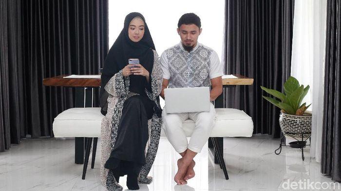 Lindswell Kwok dan suami Achmad Hulaefi cinlok di pelatnas wushu.  (Ari Saputra/detikSport)