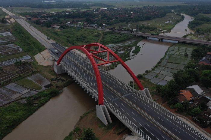 Begini penampakan terkini Jembatan Kali Kuto, Batang, Jawa Tengah.