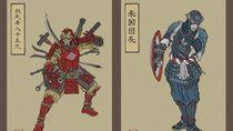 Saat Para Avengers Dibuat Dalam Teknik Jepang Ukiyo-e