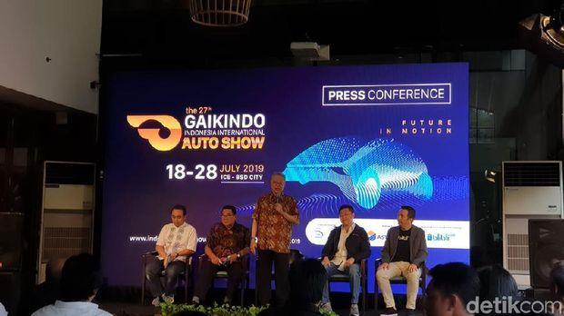 Jumpa pers yang diadakan Gaikindo di Jakarta, Selasa (14/5/2019)