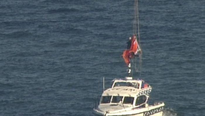 Aktivis Greenpeace diturunkan dari Harbour Bridge Sydney. (ABC News)