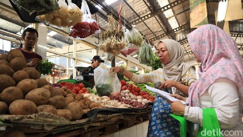 Ilustrasi pengunjung pasar modern Fresh Market Kota Wisata Cibubur (Randy/detikcom)