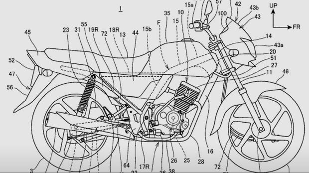 Sketsa motor Honda
