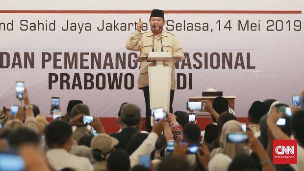 Capres nomor urut 02 Prabowo Subianto mengaku akan menolak hasil pemilu curang.