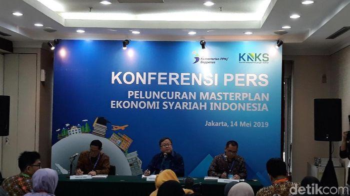 Peluncuran masterplan ekonomi syariah/Foto: Danang Sugianto/detikFinance