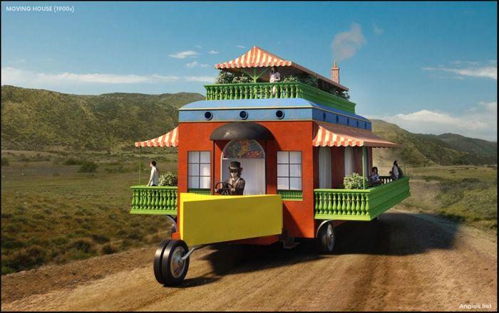 Prediksi mobile home alias rumah yang bisa berpindah-pindah. Saat ini sudah banyak mobil yang jadi rumah meski bentuknya tidak seperti sketsa dari tahun 1900 ini. Istimewa/Dok. www.angielist.com.