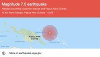 Gempa M 7,5 di Papua Nugini, Berpotensi Tsunami