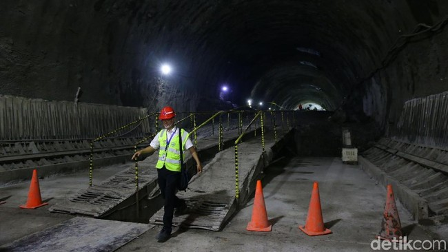 Terowongan kereta cepat Jakarta-Bandung 608 meter/Foto: Grandyos Zafna