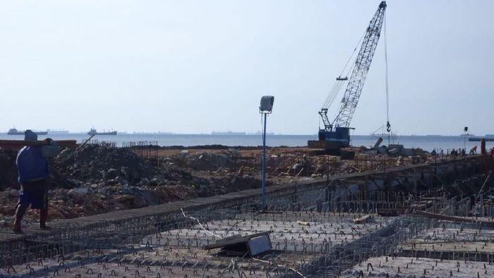 Proyek Pelabuhan KCN Marunda/Foto: Muhammad Idris/Detikcom