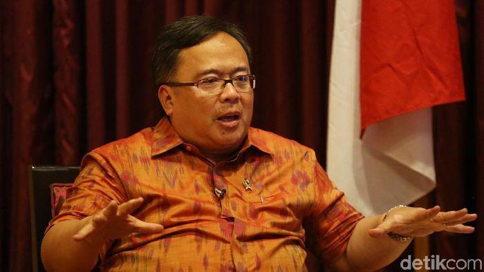 Kepala Bappenas dan yang juga mantan Menteri Keuangan Bambang Brodjonegoro/ Foto: Agung Pambudhy/detikcom
