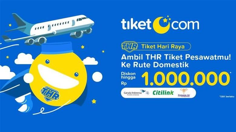 Hasil gambar untuk promo mudik tiket.com 2019 thr pesawat