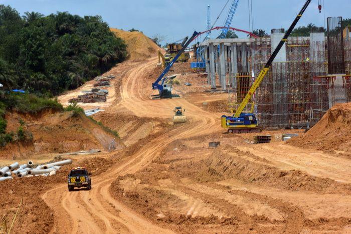 Begini penampakan progres pembangunan Tol Pekanbaru-Dumai yang melintasi jalur gajah.