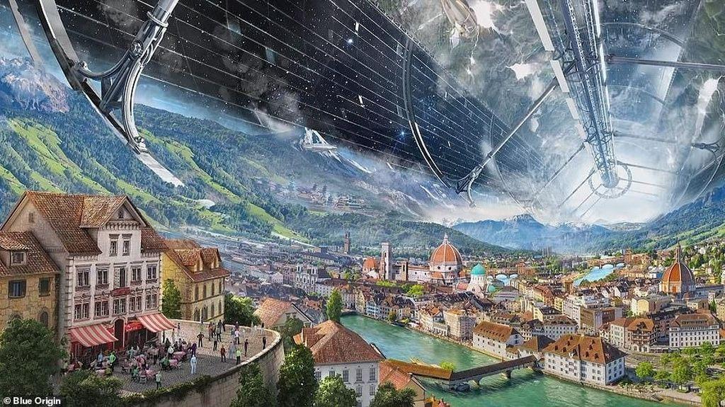 Wujud Spektakuler Kota Manusia di Luar Angkasa