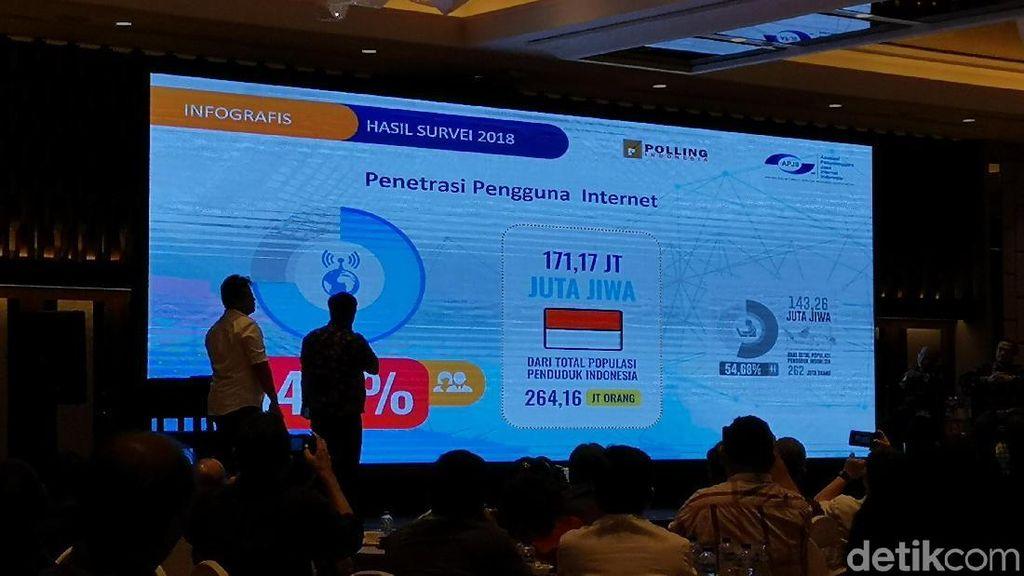 Ini Jumlah Pengguna Internet Indonesia Sepanjang 2018