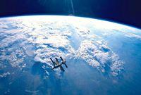 Mir, laboratorium luar angkasa milik Rusia sebelum jatuh ke Point Nemo (Nasa/BBC)