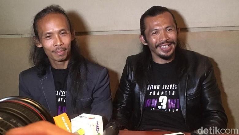 Yayan Ruhian dan Cecep Arif Rahman. Foto: Pingkan/detikHOT