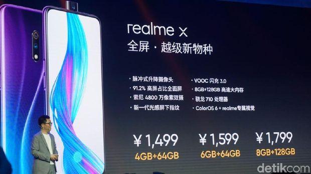 Ini Harga Realme X yang Baru Meluncur di China