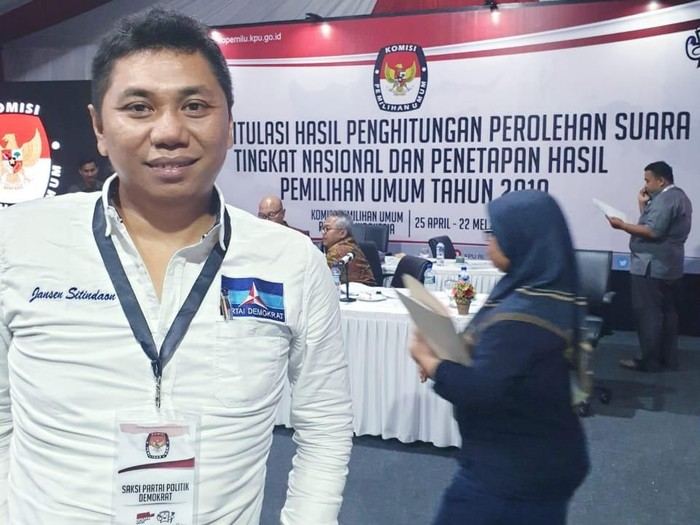 Foto: Ketua DPP PD Jansen Sitindaon. (Dok detikcom).