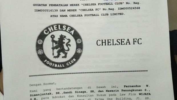 Chelsea Football Club Digugat Pengusaha Konveksi ke PN Jakpus