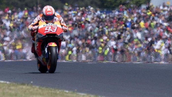 Marc Marquez berpeluang mempersembahkan kemenangan ke-300 untuk Honda di MotoGP Prancis. (Foto: Mirco Lazzari gp / Getty Images)