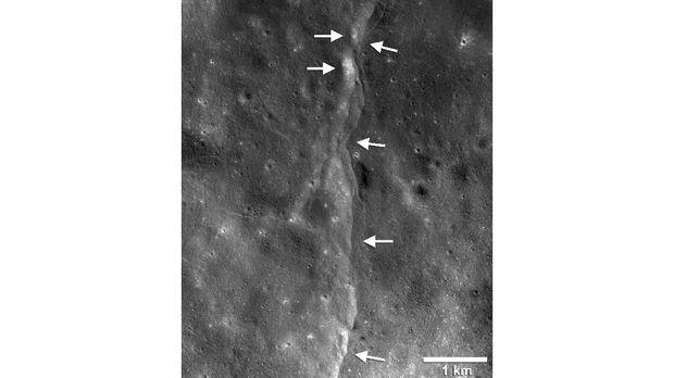 NASA Perkirakan Bulan Alami Penyusutan