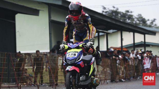 Para pebalap cilik mengaku terinspirasi dari melihat balapan sehingga bisa tertarik berkompetisi.