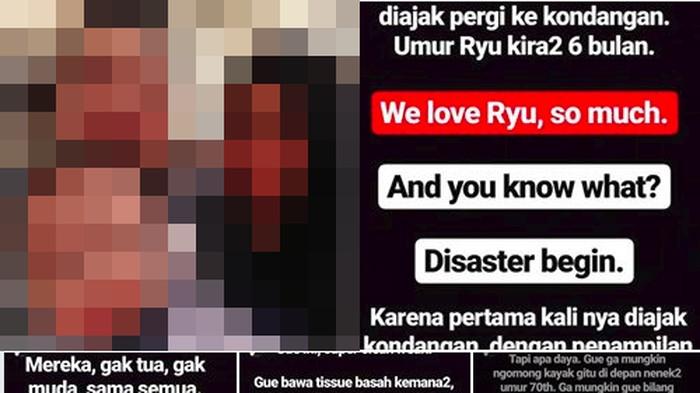 Kisah viral tentang anak yang terkenal dermatitis atopik gara-gara pipinya dicubiti banyak orang (Foto: tangkapan layar)