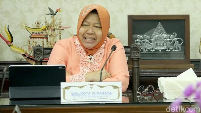 Wali Kota Surabaya Tri Rismaharini, (Foto: Hilda Meilisa Rinanda)
