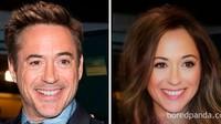 Wah, Iron Man (Robert Downey Jr) jadi mirip siapa ya?Dok. Bored Panda