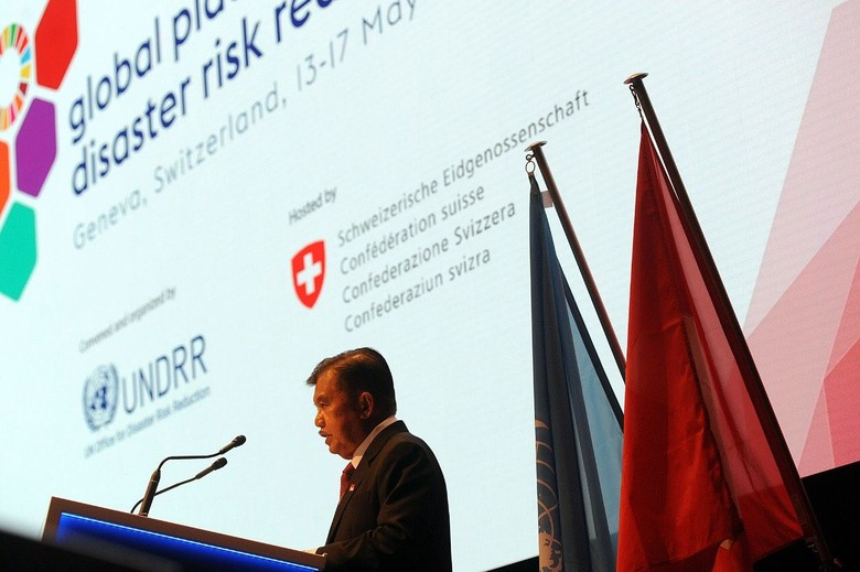 JK Ajak Dunia Internasional Perkuat Kerja Sama Kurangi Risiko Bencana