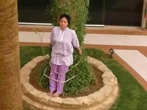 Viral, Keluarga Kaya di Arab Hukum ART dengan Mengikatnya di Pohon