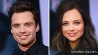 Filter Genderswap kini tengah hits, lalu bagaimana jika para bintang Avengers seperti Bucky (Sebastian Stan) menggunakannya?Dok. Bored Panda