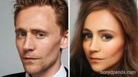 Loki (Tom Hiddleston) tetap kece dengan tulang pipi yang menonjol.Dok. Bored Panda