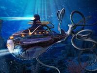 Arti nama Point Nemo: Nama Point Nemo sendiri diambil dari kisah fiksi Captain Nemo milik Jules Verne, yang mengelilingi lautan pakai kapal selam. Namun dalam bahasa latin, nemo memiliki arti no one (Ilustrasi kapal Captain Nemo/iStock)
