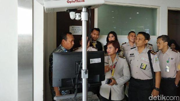 Alat pendeteksi virus thermal scanner/