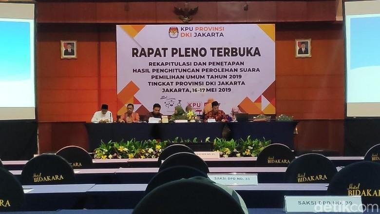 Saksi Paslon dan Parpol Belum Lengkap Hadir, Rapat Pleno KPU DKI Diskors