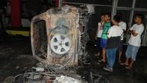 Tiga Mobil Jadi Bangkai Usai Kerusuhan di Lapas Langkat