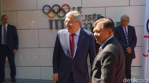 Wapres JK saat di Museum Olimpiade