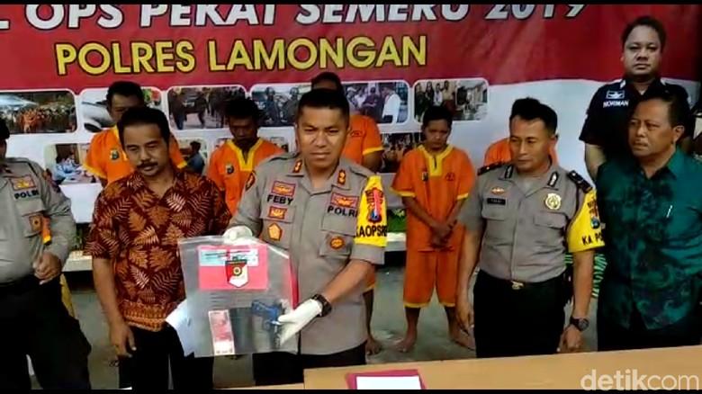 Operasi Pekat di Lamongan, Enam Tersangka Ditangkap Satu Didor