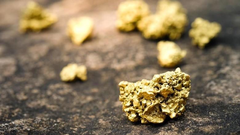 Ilustrasi bongkahan emas (iStock)