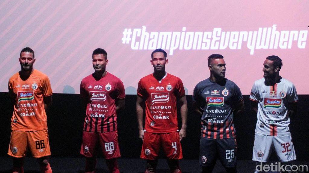 Persija Luncurkan Skuat ke Liga 1 2019 Juga Kenalkan Jersey Baru