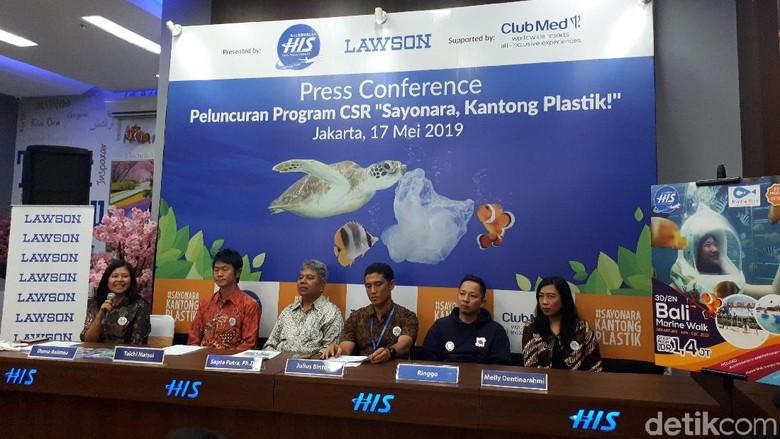 Konferensi pers Gerakan Sayonara Kantong Plastik (Wahyu/detikcom)